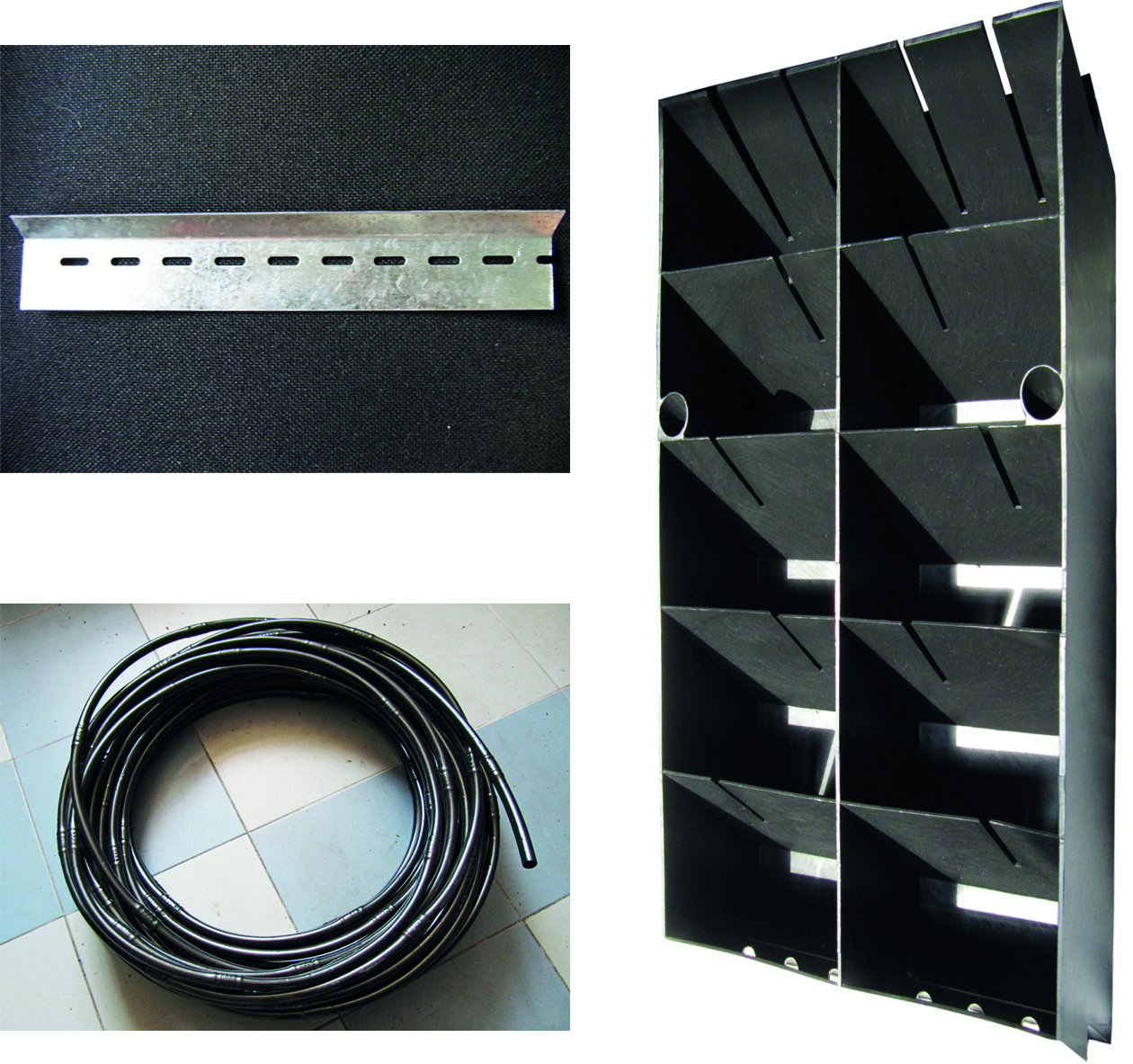 Green wall modualr system section parts