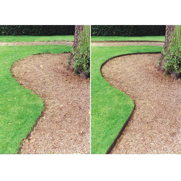Landscape plastic edging project