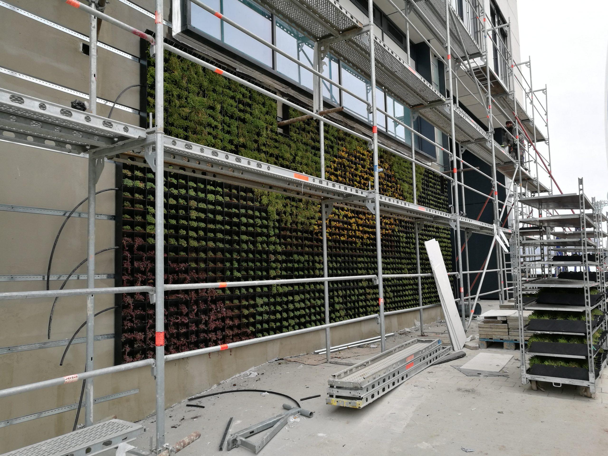 Zelena stena Space Towert izgrajdane